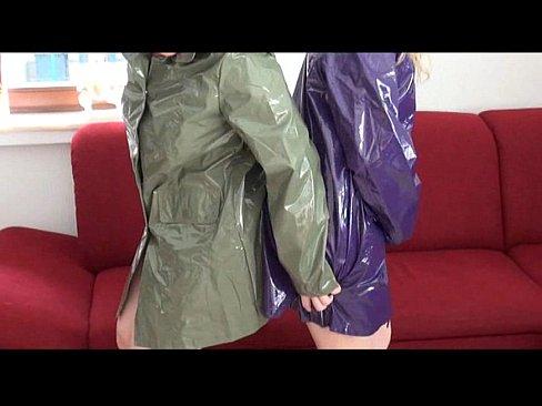 stories fetish Plastic raincoat
