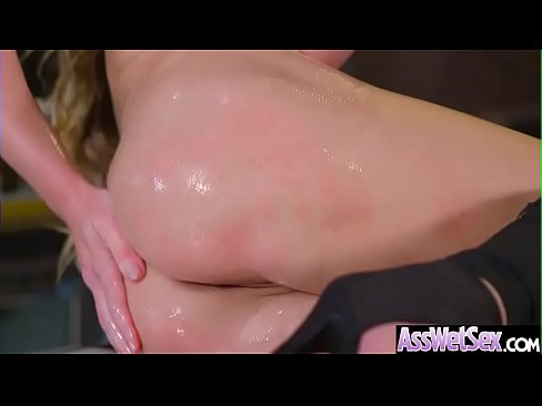 (Cathy Heaven) Hot Girl With Big Oiled Butt Nailed Deep In Her Asshole movie-11