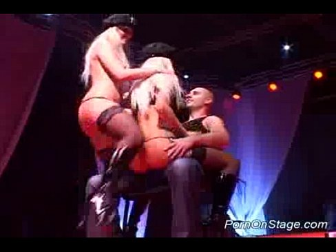 Stage on naked strippers