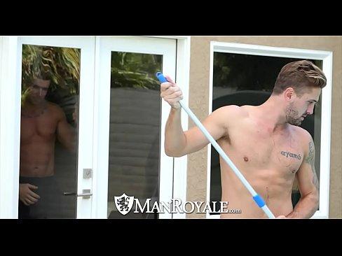 Muscle Jock Sucks And Fucks By The Pool