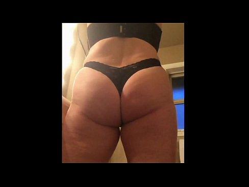 Milf booty thong