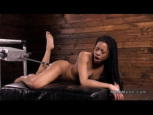 Ebony fucking machine