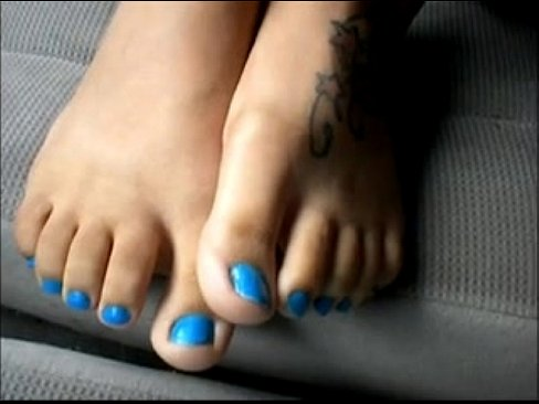Milf redbone blue toenails