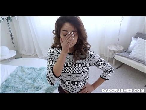 Step dad gives latina daughter an orgasm