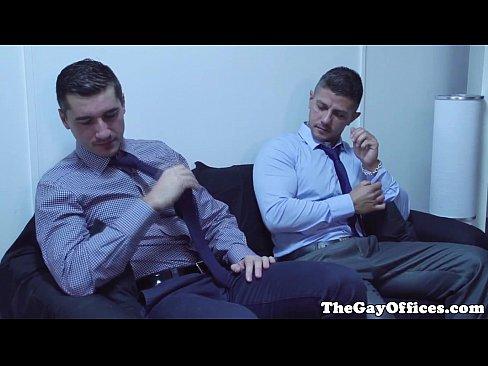 Ripped Office Hunk Pounding Muscle Ass