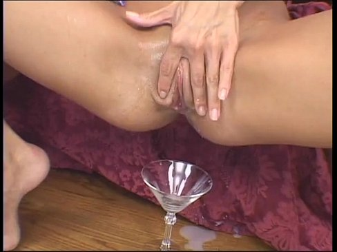 Trinity Drinks A Glass Full Of Cum And Gets Fucked