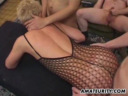 Real amateur in crotchless panties
