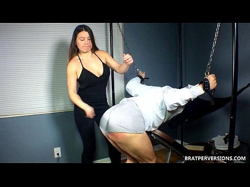 Femdom humiliation spanking