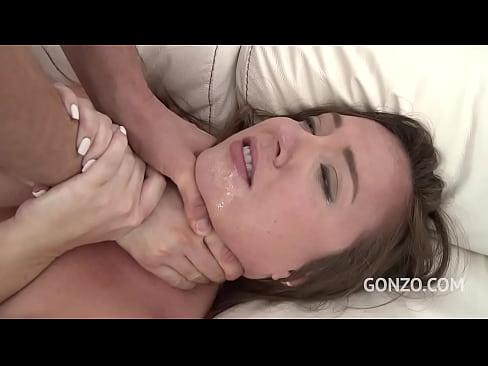 Meiriceanach slut Maddy Oreilly faigheann garbh anal fucking & anal dubailte san Eoraip SZ1571