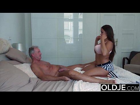 Girl Big Tits Rides Dildo