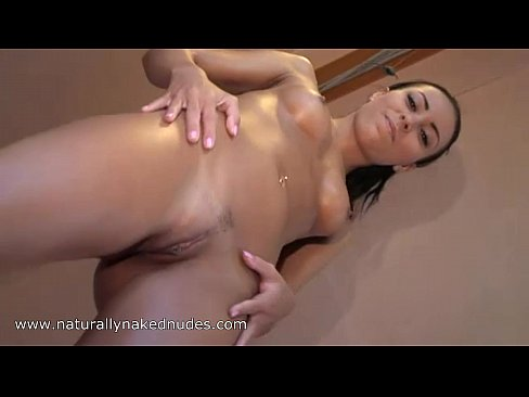 Oiling my nude pregnant wife