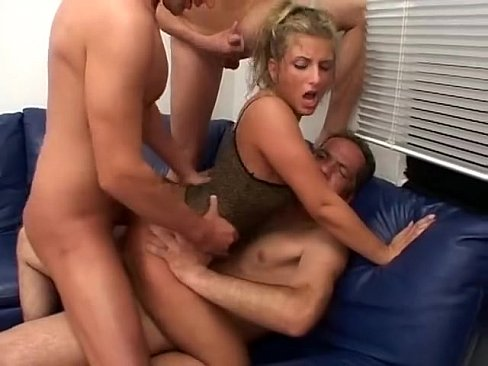 Gang bang to hot blonde
