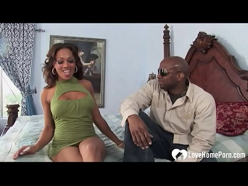 Black pussy on his lap cock