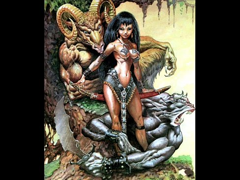 Women black warriors nude fantasy