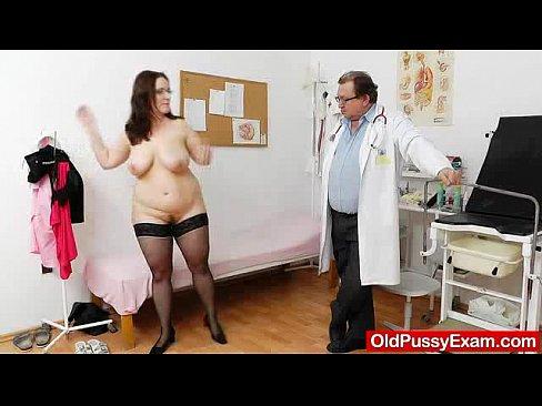 Big breasted british mature lady