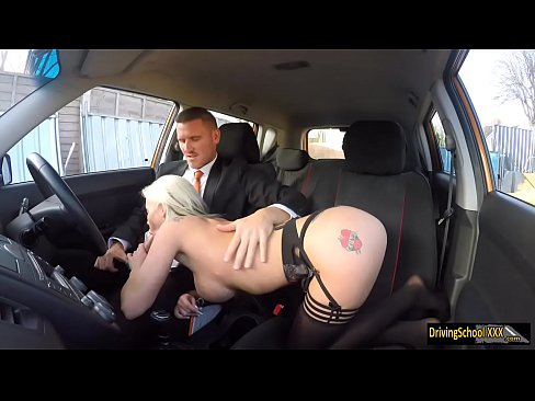 Busty lady Barbie Sins banged in the car