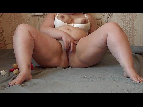 Girl masturbates with toys