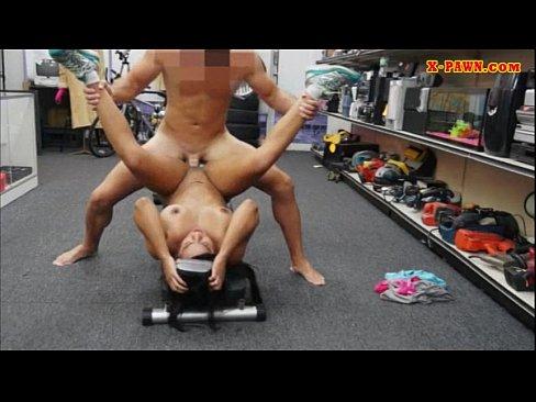 naked girl doing footjob