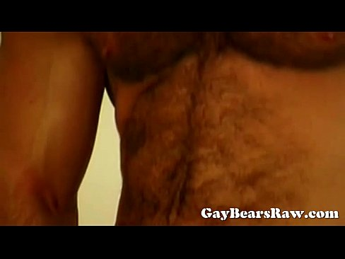 Muscley Gay Bear Gives Hot Rimjob