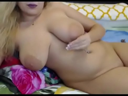 Chubby naked with huge boobs