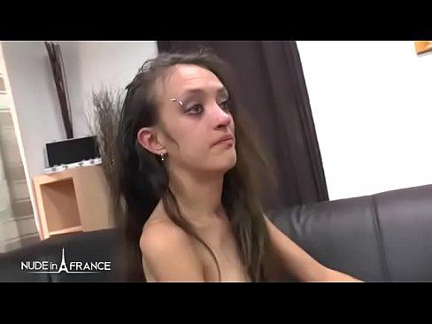 skinny amateur facial