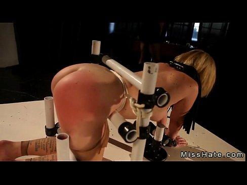 Femdom butt spanking