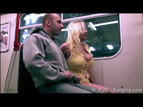 Public train tits