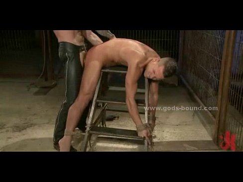 Pair Of Gays Bound Whiped And Fucked