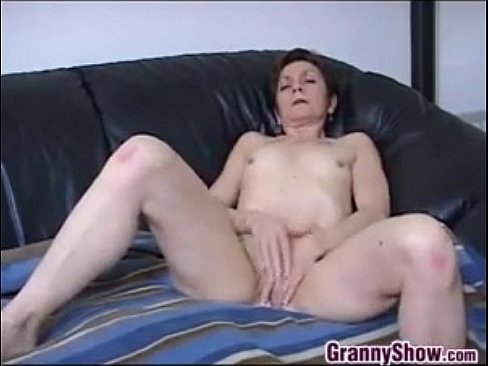 Small titted mature self pleasure