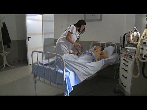 Nurse sucking and making her patient happy