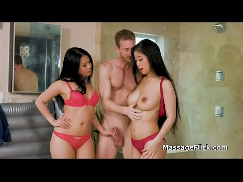 Asian Massage Parlor Threesome