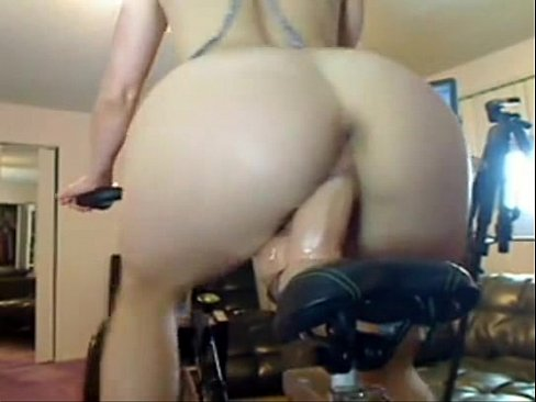 Dildo bicycle pussy photo