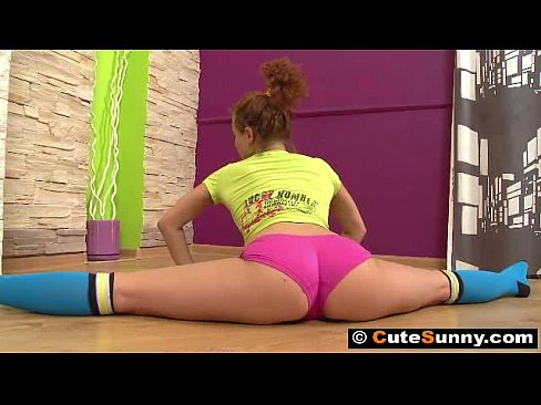 Gymnast Sunny In Hard Action