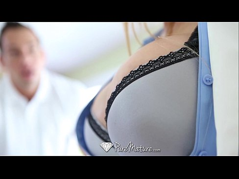 PureMature - Hot guy interviewed and fucked by busty Milf Alyssa Lynn