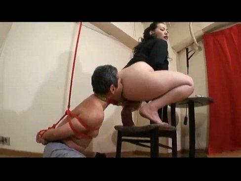 Japanese Femdom Ass Licking