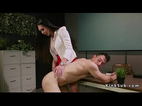 Busty Asian tranny doctor bangs dude
