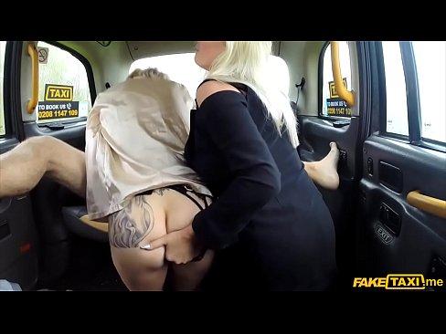 fake taxi threesome