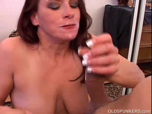 Mlf adores sucking a mature cock