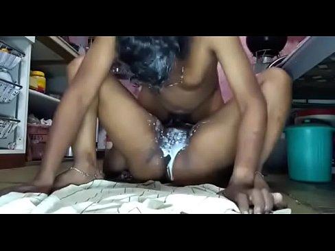 Lesbian fingering through her panties