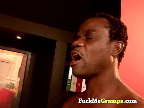 Video grandpa cum on my face