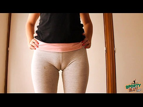 Hot milf fat cameltoe in tight leggings