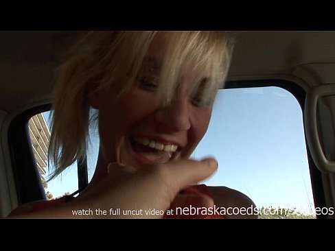 Girl fingers then fucked in car