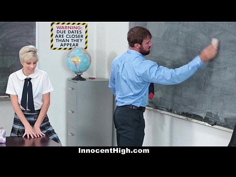 InnocentHigh - Hot Shy Teen Fucks Teacher