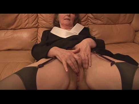 Granny hairy panties in mature old