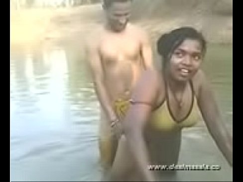 Village river bathing indian nude girl