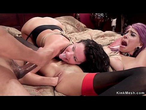 Big Tit Brunette Lesbian Strap