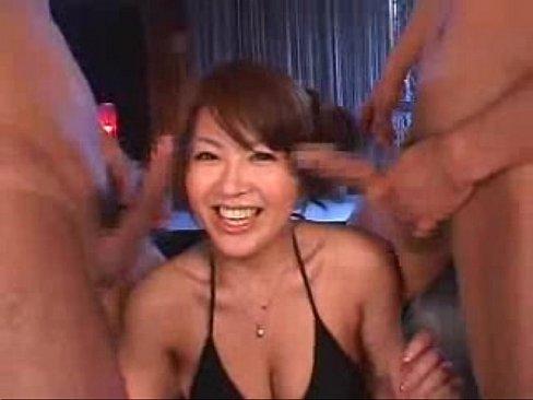 Asian 3 some hard dick fucking