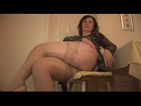 Slips matures stockings in and