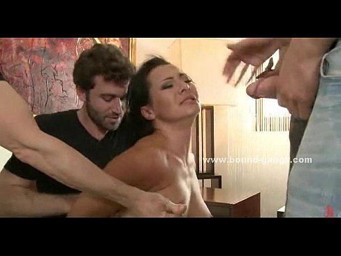 Forced to fuck in extreme gangbang sex
