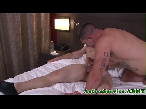 Buzzcut Military Hunk Gives Amazing Tugjob
